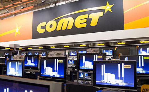 Comet falls into administration