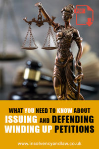 issue or defend winding up petitions, Issuing and Defending Winding Up Petitions 2019