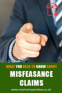 Misfeasance, Misfeasance Claims